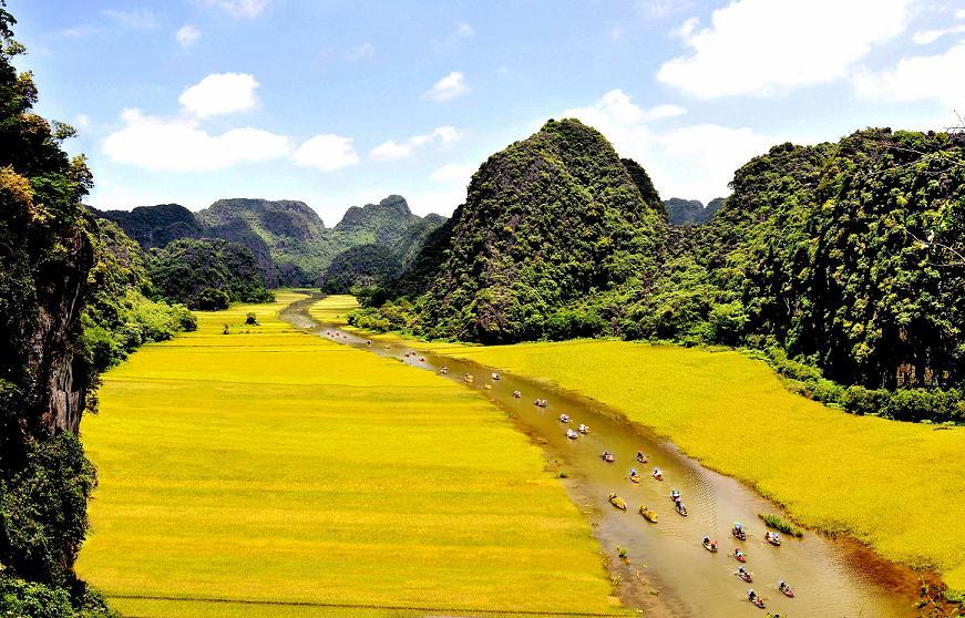 Sắc vàng Tam Cốc là tuần du lịch hằng năm tại Ninh Bình