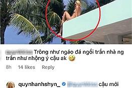 """Quỳnh Anh Shyn đăng clip ngồi """"trần như nhộng"""" trên mái hiên villa view biển, màn chill này hack mắt quá"""