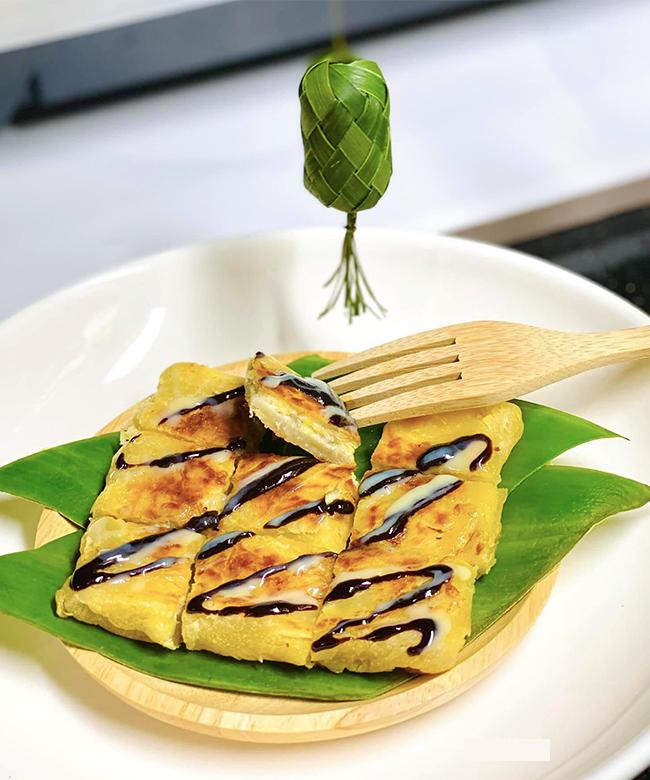 cách làm bánh crepe chuối Thái Lan