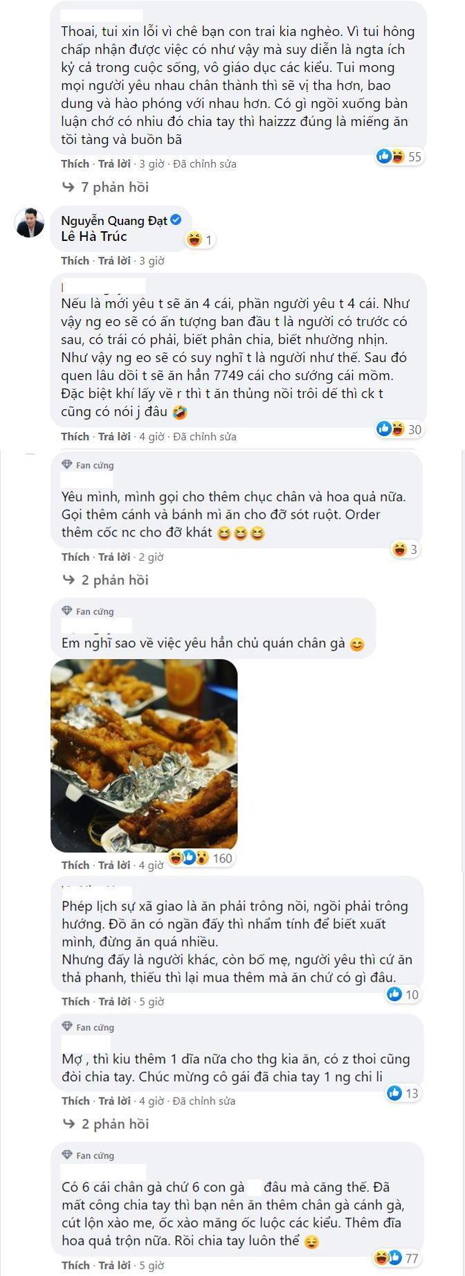 cô gái bị người yêu chia tay vì ăn hết 6 cái chân gà một lúc