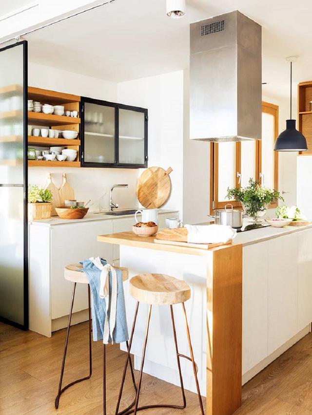 phòng bếp siêu nhỏ ấm áp
