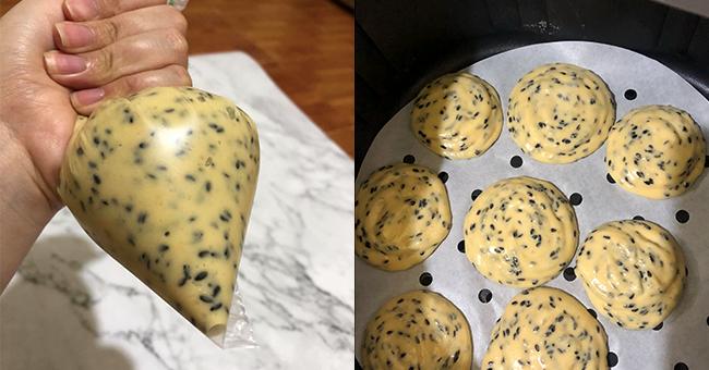 cách làm bánh mì mè đen hàn quốc