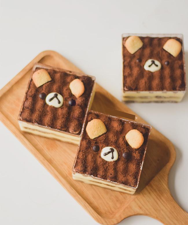Bánh Tiramisu gấu nâu cute