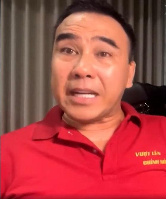 Quyền Linh khóc nghẹn trên livestream khi nói về Sài Gòn
