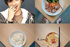Quang Trung chụp ảnh khoe đồ ăn cực lú, dân tình lo lắng: đôi dép anh ổn không?