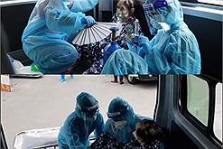 Chẳng màng đến an toàn bản thân 2 nữ tình nguyện viên ôm F0 vào viện cấp cứu