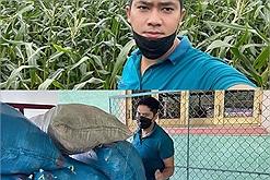 Minh Luân mua 3 tấn ngô cho bà con ở quê, tặng chợ 0 đồng, tự tay bưng bê, cẩn thận từng ly từng tí