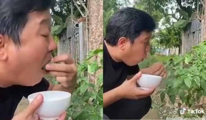clip ăn uống của Trường Giang trên tiktok