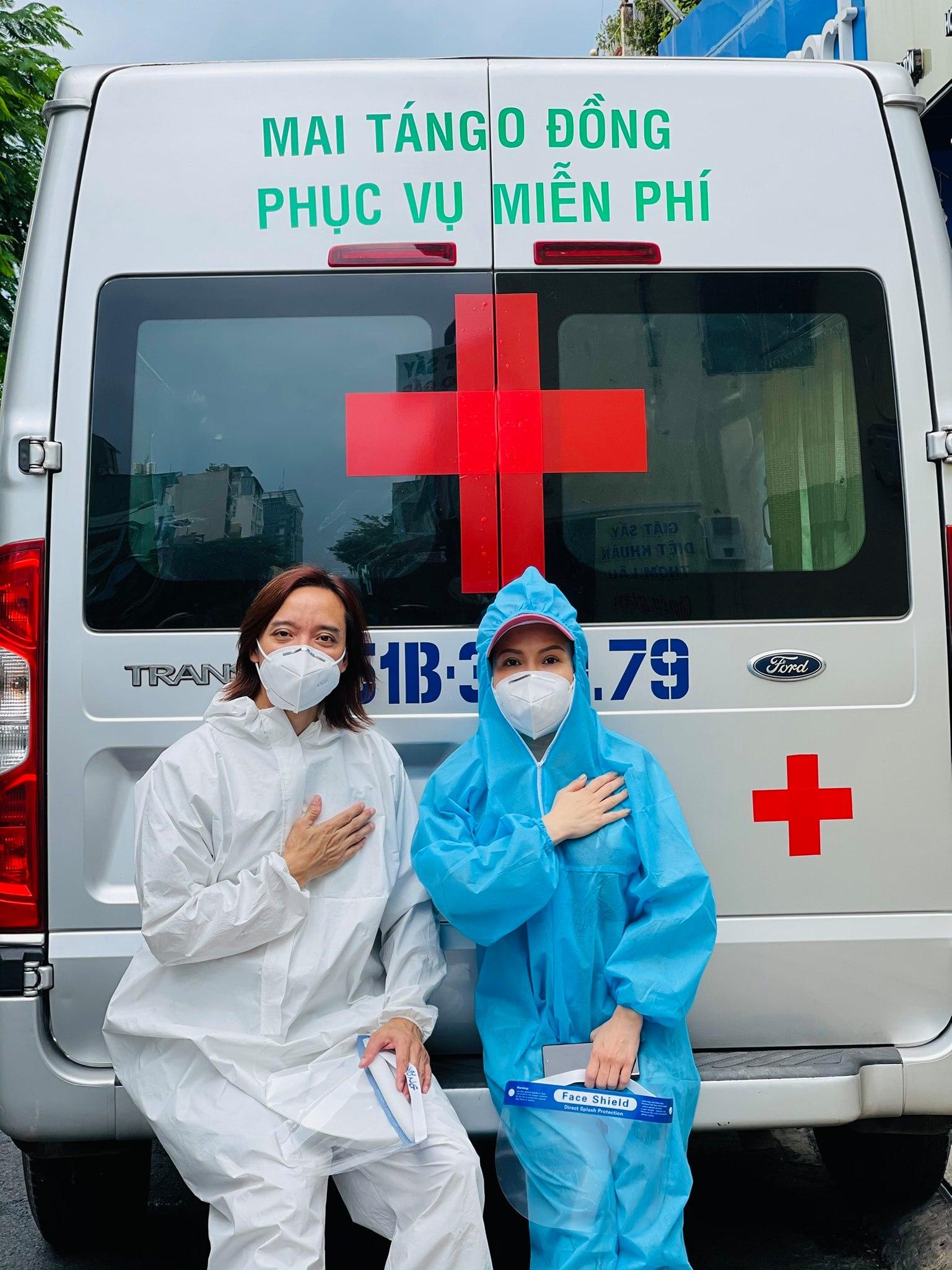 xe y tế của Việt Hương