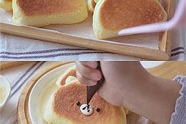 Thành phẩm tại gia có chảo dùng chảo vẫn cực kì xịn xò với món bánh sữa chua hình gấu siêu cute đang hot trend