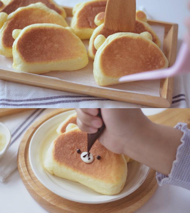 Hot rần rần mùa dịch với bánh sữa chua nướng chảo hình gấu cute dễ làm