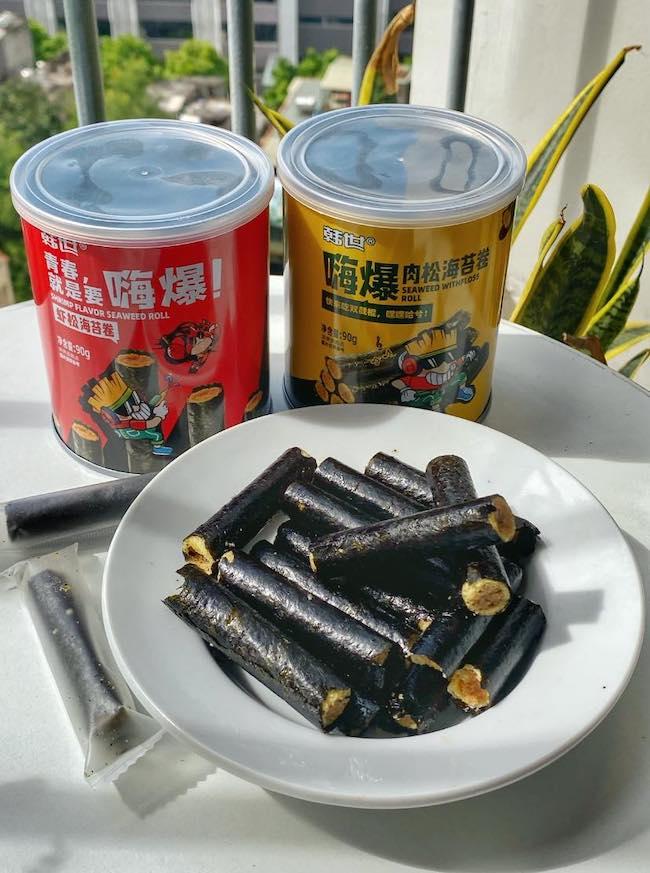 snack Rong biển cuộn chà bông douyin