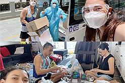 Không chỉ tặng rau củ gạo đến bà con, vợ chồng Lương Thế Thành.Thúy Diễm còn hỗ trợ hàng trăm đơn thuốc cho bệnh nhân Covid