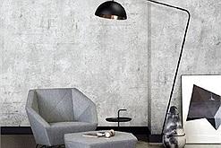 Giấy dán tường giả bê tông – xu thế nội thất nhà ở hiện đại 2021