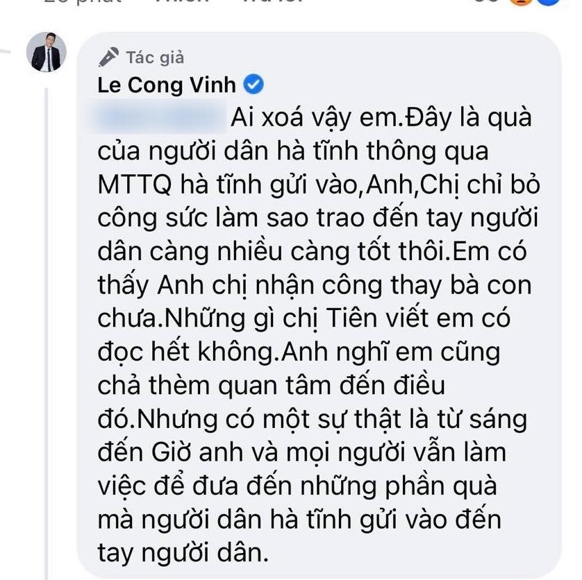 Thủy Tiên bật khóc vì bị tố ăn chặn tiền từ thiện, Công Vinh