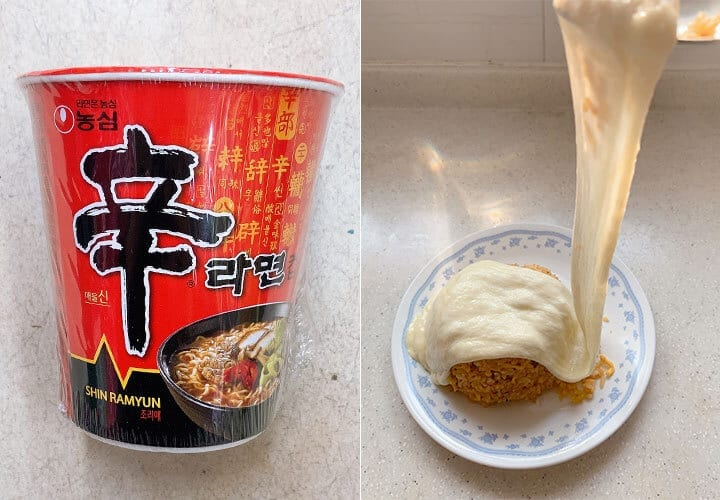cơm chiên mì ăn liền Shin Ramyun Hàn Quốc