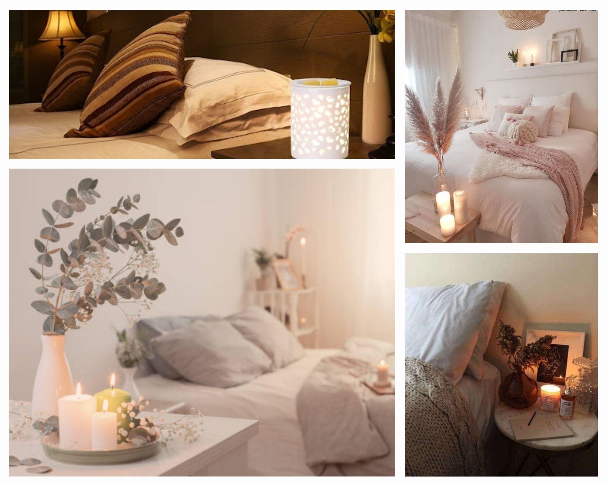 Nến thơm trang trí phòng ngủ