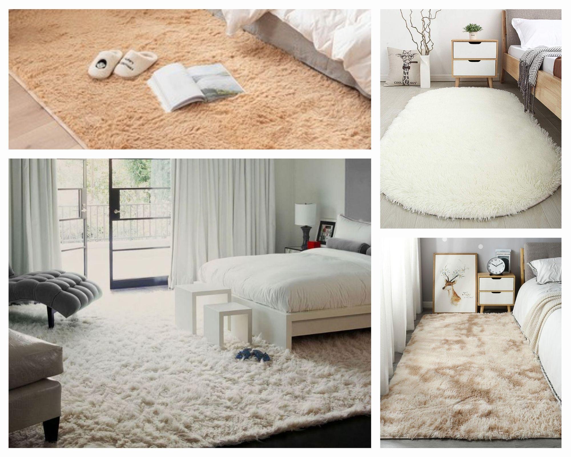 Sử dụng thảm trải sàn phòng ngủ giúp không gian thêm ấm cúng