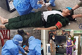 Từng bị ung thư vẫn đi giúp bà con: Bác Trưởng ban mặt trận một khu dân cư ở Đà Nẵng kiệt sức ngất xỉu ngay tại chốt
