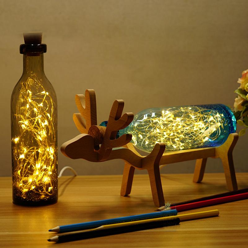 vật dụng trang trí để bàn từ chai thủy tinh