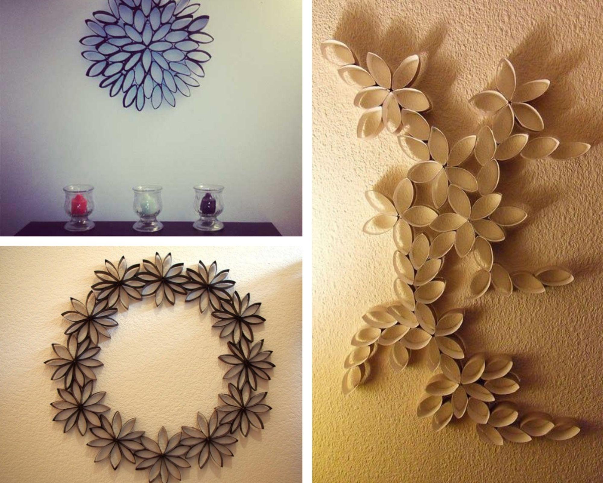 trang trí nhà cửa đẹp bằng tái chế lõi giấy vệ sinh