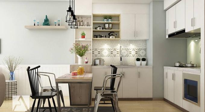 tiết kiệm không gian với cách trang trí phòng bếp đẹp