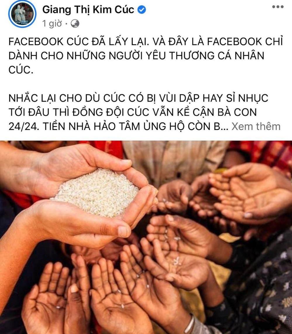 """thông báo hết quỹ nhưng nhóm từ thiện của Giang Kim Cúc vô tình để lộ số dư """"khủng"""""""