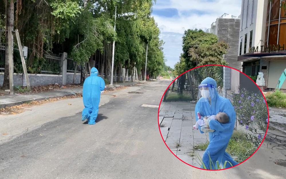 nữ bác sĩ ôm cháu bé chạy bộ để cấp cứu kịp thời, nam TNV trở thành chỗ dựa động viên bà cụ tiêm vaccine