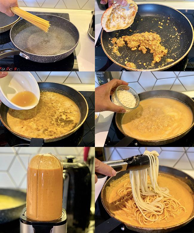 quy trình làm mì cua 4P