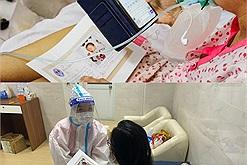 Ngày ngày điều trị hàng trăm thai phụ là F0 covid, các TNV y tế này còn đều đặn làm một việc ý nghĩa giúp những người mẹ xa con
