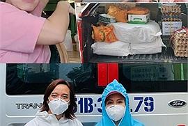 Vợ chồng Việt Hương cố gắng từ thiện đến những ngày cuối cùng, chồng chị làm đến mức chân đau mưng mủ phải nằm nhà