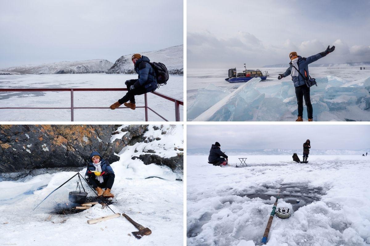 trải nghiệm câu cá trên hồ băng âm 35 độ C của chàng trai Việt