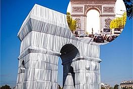 """Zoom cận cảnh """"chiếc áo mới"""" của Khải Hoàn Môn, được bọc 25.000m2 vải ở thủ đô Paris, Pháp"""