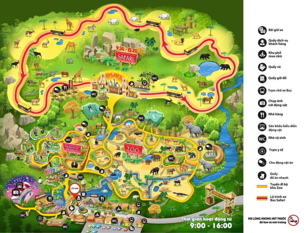 Bản đồ Safari Phú Quốc