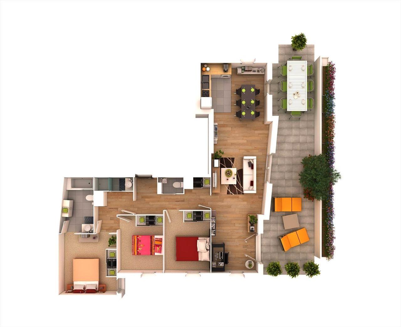 Bản vẽ thiết kế nội thất nhà cấp 4 sân vườn
