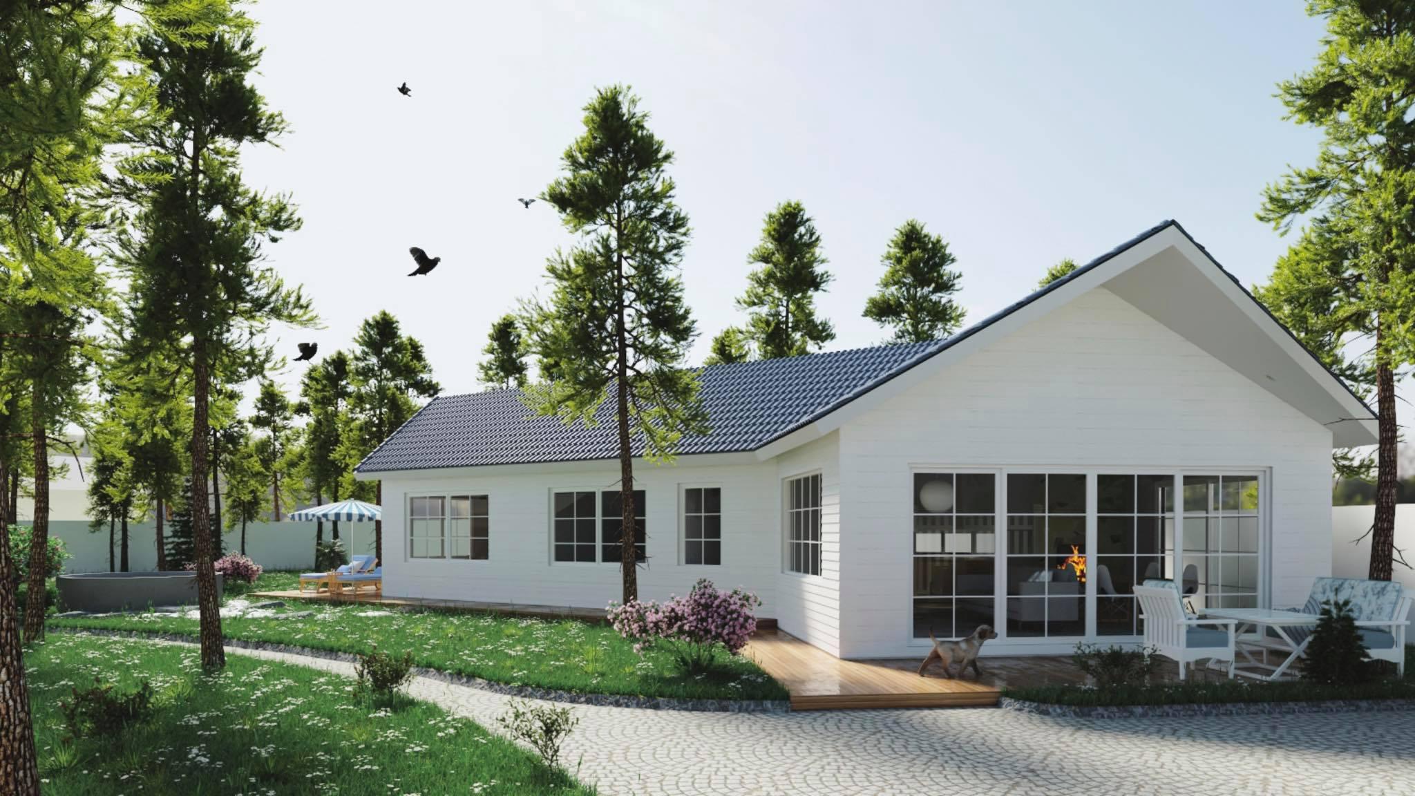 Bản thiết kế 3D hình thành ý tưởng căn nhà của Thịnh Ngựa