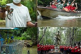 """Sau 3 tháng tình nguyện chống dịch ở TP.HCM, các y bác sĩ nay lại """"tiên phong"""" trải nghiệm tour du lịch Cần Giờ độc đáo, có cả câu cá sấu"""