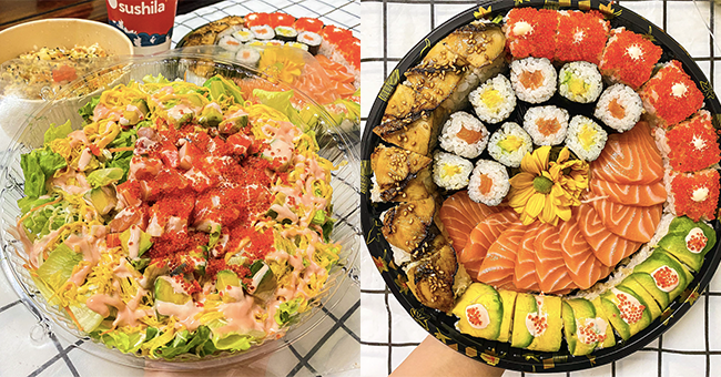 Sushi khay tự chọn tại Sushila - Japanese Cuisine