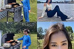 Chi Pu ở Mỹ: Sáng dậy sớm nướng thịt chill chill, rảnh lại đi vi vu, khoe mặt mộc xinh tươi, body căng đét