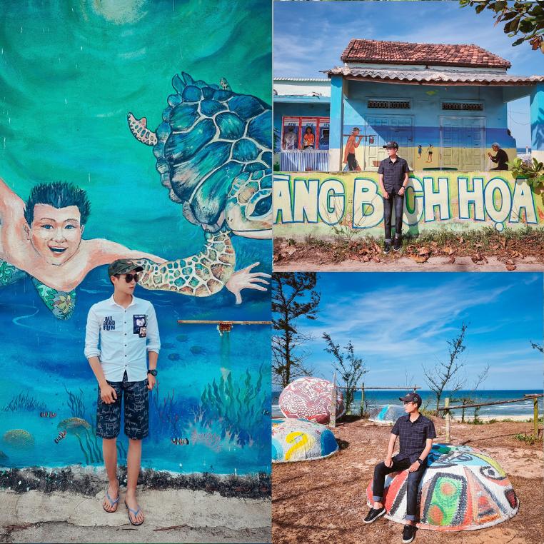 Với niềm đam mê lớn với bích họa, anh chàng blogger trẻ tuổi đặt chân đến 61 tỉnh thành trên đất nước để check in