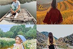 Tháng 10 thu sang, cùng nhau săn các mùa hoa ở Hà Giang, Mộc Châu, ngắm lúa chín Tây Bắc, hòa mình vào sắc thu Hà Nội,...