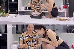 """Không chỉ nết ăn, cát """"nết sống ảo"""" của Ngọc Trinh cũng không ai theo kịp: trèo hẳn lên bàn bếp chụp nó mới đúng trend"""