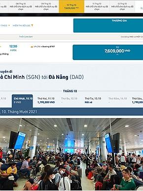 """Mới mở lại đường hàng không nội địa đã """"cháy vé"""", có tiền chưa chắc mua được vé ra Bắc, đắt đỏ hơn cả đi Thái Lan ngày trước"""
