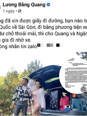 Sau 4 tháng dời kẹt tại Phú Quốc, phải làm bảo vệ dọn phòng để có tiền sống, Lương Bằng Quang và Ngân 98 cuối cùng đã được về TP.HCM