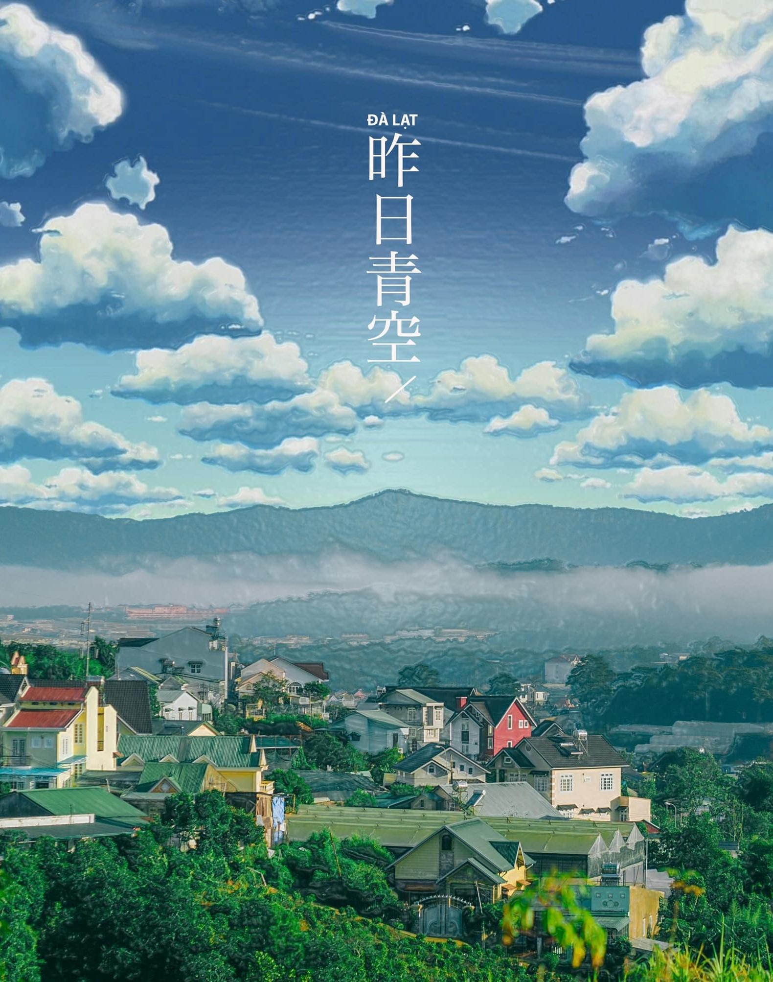 bộ ảnh Đà Lạt phiên bản anime