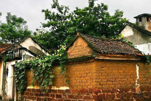 tường gạch ong đặc biệt của lối kiến trúc Bắc Bộ