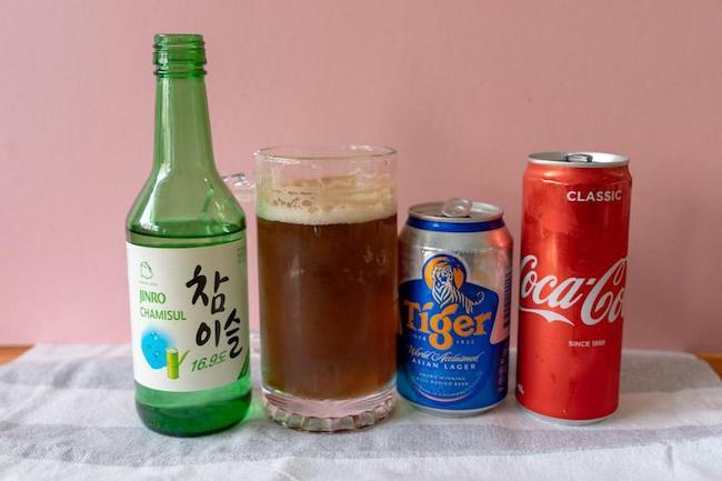 Soju mix bia và coca cola