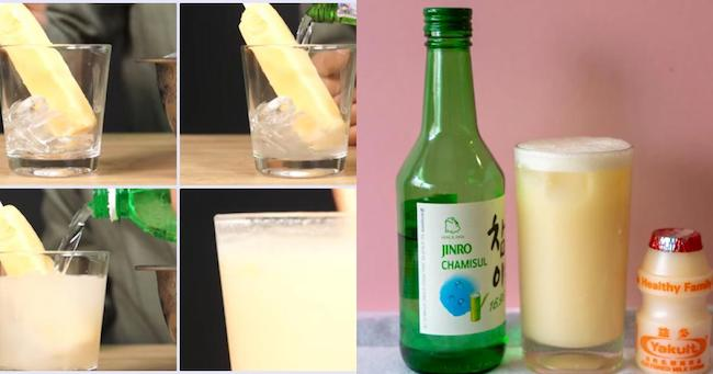 Soju mix sữa, sữa chua
