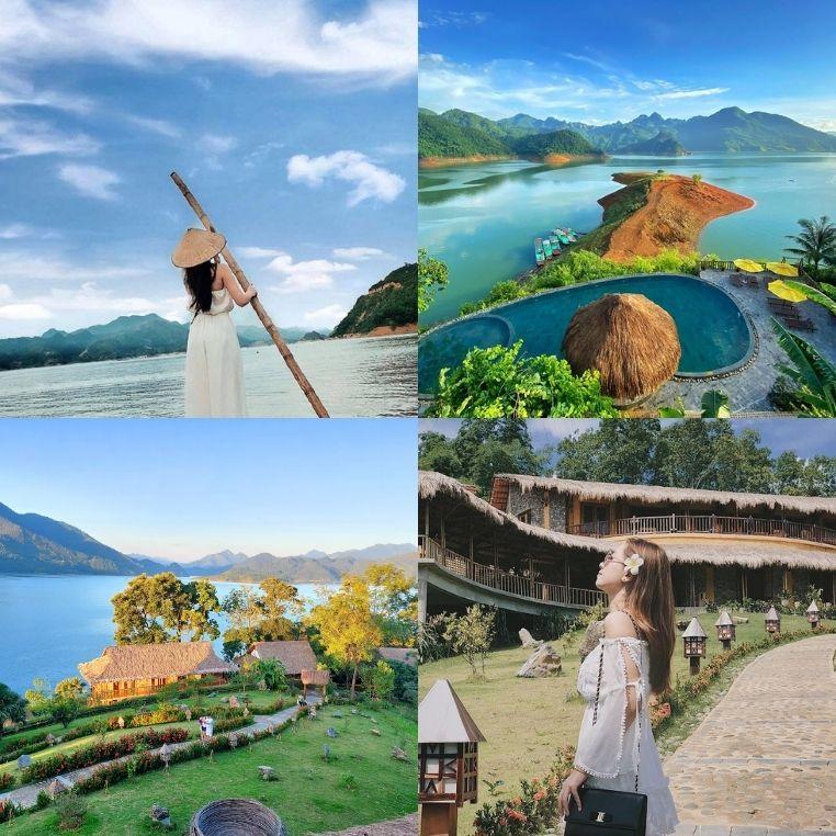 Tham quan khu nghỉ dưỡng Mai Châu Hideaway, resort độc lạ nằm giữa lòng hồ Hòa Bình
