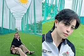Khỏi phải đồn ra đoán vào nữa nhé, Hoàng Thùy Linh và Gil Lê công khai đi chơi golf enjoy cái moment cuối tuần